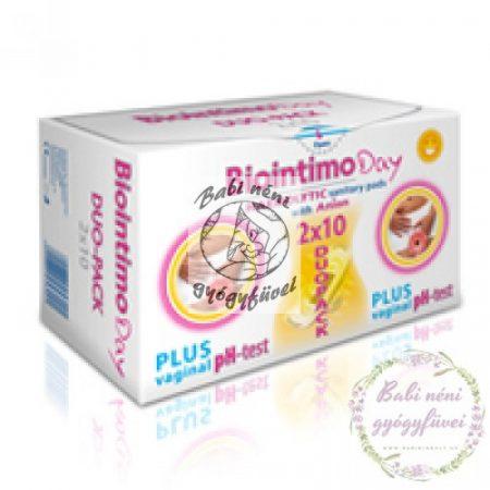 Biointimo DUO-PACK DAY (2x10db) Anionos nappali intimbetét