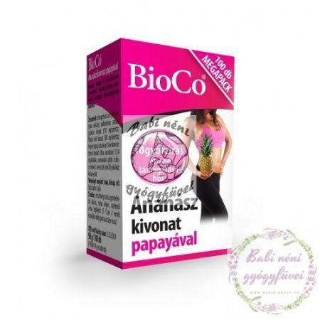 BioCo Ananász kivonat papayával MEGAPACK 100db