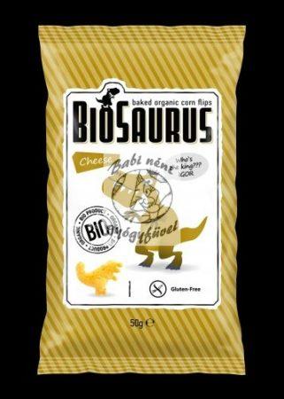 Biosaurus Kukorica snack, Sajtos