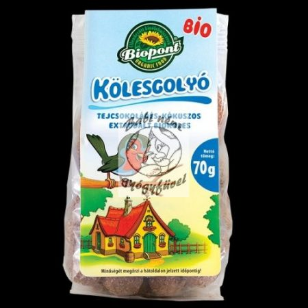 Biopont Bio tejcsokoládés-kókuszos kölesgolyó