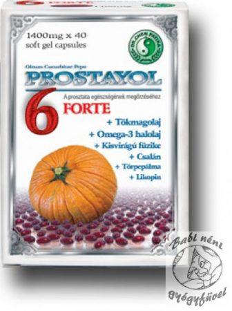 Dr. Chen Prostayol 6 Forte lágyzselatin kapszula (40 db-os)