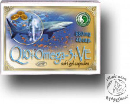 Dr. Chen Q10-koenzim + Omega-3 kapszula E-vitaminnal (40 db-os)