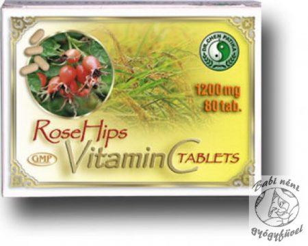Dr. Chen C-vitamin csipkebogyóval 1200mg (80db-os)
