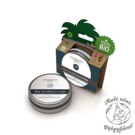 Coconutoil Cosmetics Bio Aktívszenes Fogpor