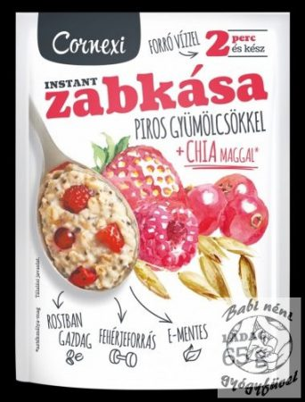 Cornexi Zabkása Piros gyümölcsös Chia maggal