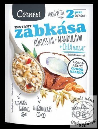 Cornexi Zabkása Kókuszos-mandulás Chia maggal és édesítőszerrel