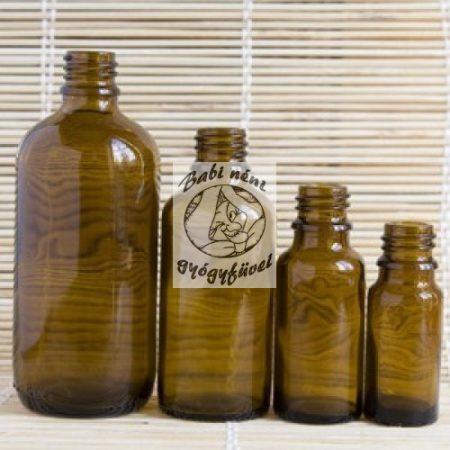 Barna gyógyszertári üveg, 50ml-es