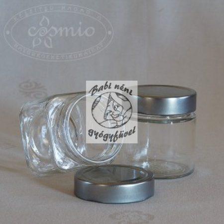 212 ml-es ezüst tetős üveg
