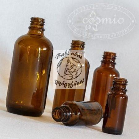 Barna gyógyszertári üveg, 5ml-es