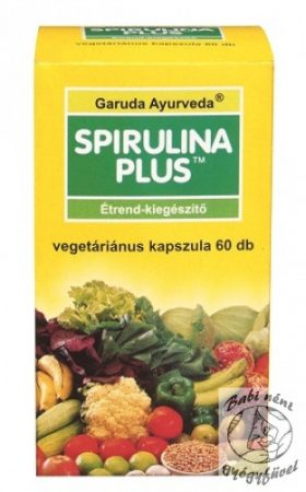 Garuda Ayurveda Spirulina Plus vegán kapszula 60 db