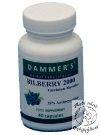 Dammer's Bilberry 2000 kapszula (40db-os)