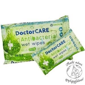 DoctorCare Antibakteriális Nedves Törlőkendő - 15 db