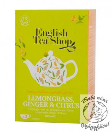 ETS 20 Bio Citromfű tea, gyömbér & citrus