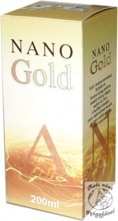 Nano Gold aranykolloid (200ml-es)