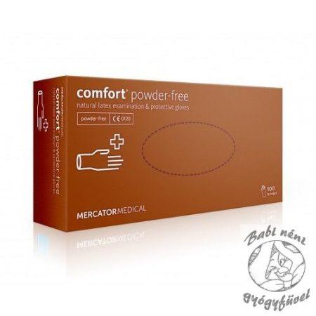 COMFORT POWDER-FREE latex kesztyű XL 100db