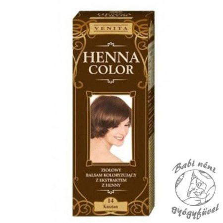 Henna Color krémhajfesték nr 14 gesztenyebarna 75 ml