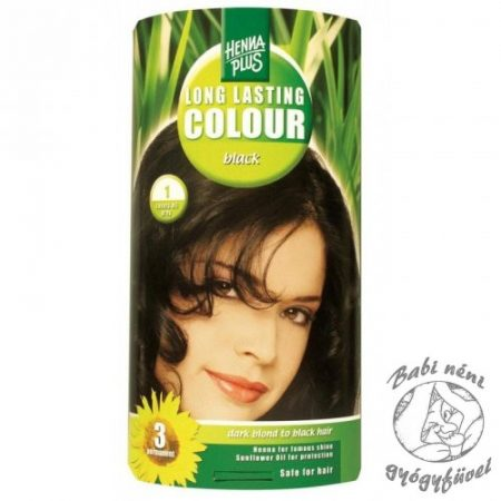 Henna Plus hajfesték 1 fekete
