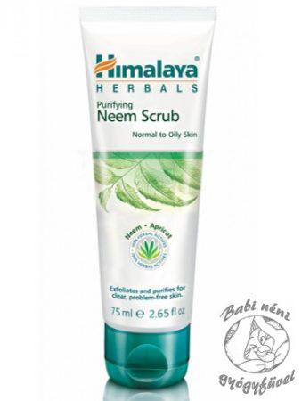 Himalaya Purifying Neem Scrub (75 ml) Nim arcradír normál és zsíros bőrre