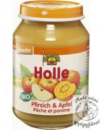 Holle Bio Bébiétel őszibarack almával 190g
