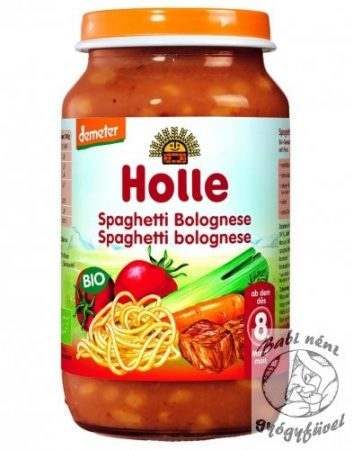 Holle Bio Junior bébiétel Bolognai-spagetti 220g