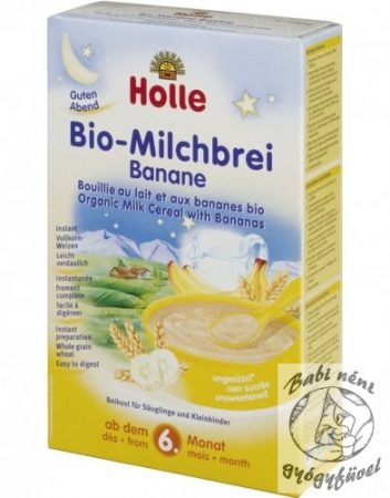 Holle Bio banános tejkása 250g