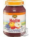Holle Bio Bébiétel alma fekete áfonyával 190g
