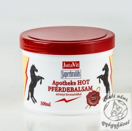 JutaVit Apotheke Lóbalzsam Hot 500ml