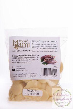 Kakaóvaj pasztilla, finomított (100g)