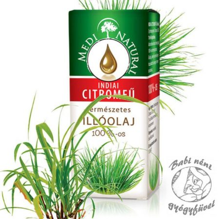 Medinatural Indiai citromfű illóolaj (10ml-es)