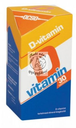 OCSO D-vitamin 30 tabletta