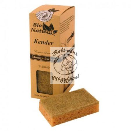 Bio Natural Kender mosogatószivacs 6db