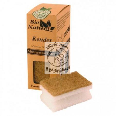 Bio Natural Kender mosogatószivacs körömkímélő peremmel 4db
